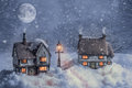 Winter Cottages In Snow Stock Photos - 48992543