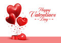 Valentines Day Red Sweet Balloon Hearts Stock Image - 48992811
