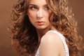 Young Woman With Curly Hair Stock Photography - 48994982