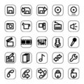Web And Media Icon Set Royalty Free Stock Image - 4909146