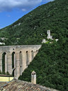 Medieval Bridge And Castle Ruins On Mountain Side Stock Photos - 4909523