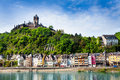 Town Of  Cochem With The Imperial Castle Stock Photo - 49001140