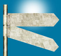 2 Panel Blank Directional Road Signs Stock Photos - 49005593