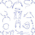 Hand Drawn Arrows And Symbols Isolated Royalty Free Stock Images - 49010329