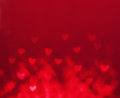 Abstract Valentine S Day Background With Red Hearts. Glow Colorf Royalty Free Stock Images - 49010989