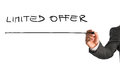 Writing Limited Offer On Virtual Whiteboard Royalty Free Stock Photography - 49017967