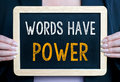 Words Have Power Royalty Free Stock Photo - 49033905