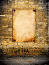 The Old Poster Attached To The Coquina Wall Royalty Free Stock Photography - 49037987