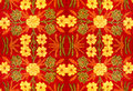 Fabric With A Pattern Of Flowers, Embroidery, Handmade Stock Images - 49046294