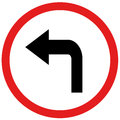 Turn Left Sign Royalty Free Stock Photos - 49056728