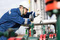Gas Production Operator Royalty Free Stock Image - 49061596