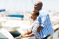 African Couple Daydreaming Royalty Free Stock Photography - 49078297