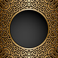 Vintage Gold Circle Frame Royalty Free Stock Image - 49087286