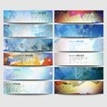 Big Colored Abstract Banners Set. Conceptual Royalty Free Stock Images - 49088219