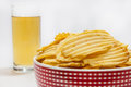 Potato Chips With Beer In The Glass Stock Photo - 49094680