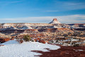 Snow Covered Desert Canyons Stock Image - 49099221