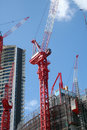 Cranes On A Construction Site Royalty Free Stock Photo - 4915535