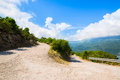 Narrow Old Road With Serpentine Curve Royalty Free Stock Photography - 49101647