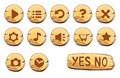 Set Of Gold Round Buttons Royalty Free Stock Photography - 49102387