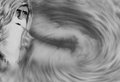 Old Man Winter Cold Wind Blowing Stock Image - 49110151