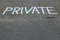 Private Sign Stock Photos - 49112523