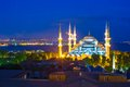 Blue Mosque At Sunset In Istanbul, Turkey, Royalty Free Stock Photos - 49116808