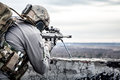 U.S. Army Sniper Royalty Free Stock Photography - 49120387