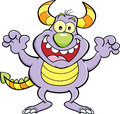 Cartoon Grinning Monster. Royalty Free Stock Images - 49135319