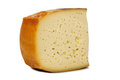 Piece Cheese With Small Holes Side View Royalty Free Stock Image - 49138616