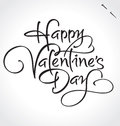 Happy Valentines Day Hand Lettering (vector) Stock Photo - 49140160