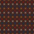 Vintage Knitted Seamless Pattern In Fair Isle Style. Hipster Swe Stock Photography - 49144322