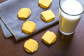Crackers And Cheese With Milk Royalty Free Stock Image - 49151756