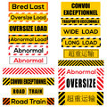 Various Oversize Load Signs And Symbols Royalty Free Stock Photography - 49162537