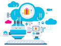 Industrial Illustration Background Of The Cloud Technolog Royalty Free Stock Images - 49164319