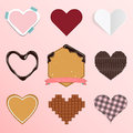 Set Of Heart Icon In Flat Design For Valentine S Day Or Wedding Ornament Stock Photos - 49170093