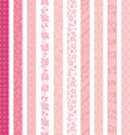 Set Of Decorative Banners. Lace Trims. Stock Images - 49171944