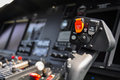 The Pilots  Control Panel Inside A Passenger Airplane, Control Panel Of Airplane Stock Photography - 49174872