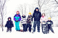 Country Kids Snow Day Royalty Free Stock Photos - 49179548