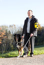 Man With His Guide Dog Royalty Free Stock Photography - 49186957