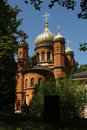 Russian Orthodox Chapel At The Historic Cemetery In Weimar, Germ Royalty Free Stock Photography - 49188487