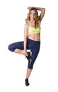 Image Of Attractive Girl Engaged In Aerobics Stock Photography - 49189082