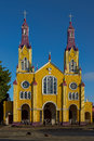 Historic Church Of Chiloé Royalty Free Stock Photos - 49192408