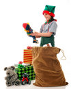 Inspecting The Toys Royalty Free Stock Photography - 4926727
