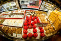Candy Store Counter, Apples And Sweets. Stock Photo - 49208930