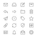 Email Thin Icons Stock Image - 49218131