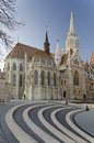 Matthias Church With Walk Cobblestone Steps At Foreground Royalty Free Stock Photos - 49218318