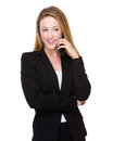 Businesswoman Talk To Mobile Phone Stock Photography - 49221912