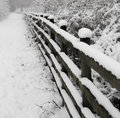 Snow Covered Footpath Stock Image - 49235411