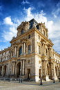 The Facade Of The Pavilion Mollien Of The Louvre Museum In Paris Royalty Free Stock Image - 49242386