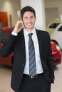 Smiling Businessman Calling With His Mobile Phone Royalty Free Stock Image - 49243726